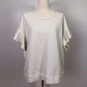 Anthropologie, Sat-Sun Sweatshirt w/flutter sleeve